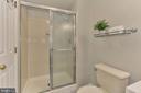 Shower in Full Bath Lower Level - 44043 CHOPTANK TER, ASHBURN
