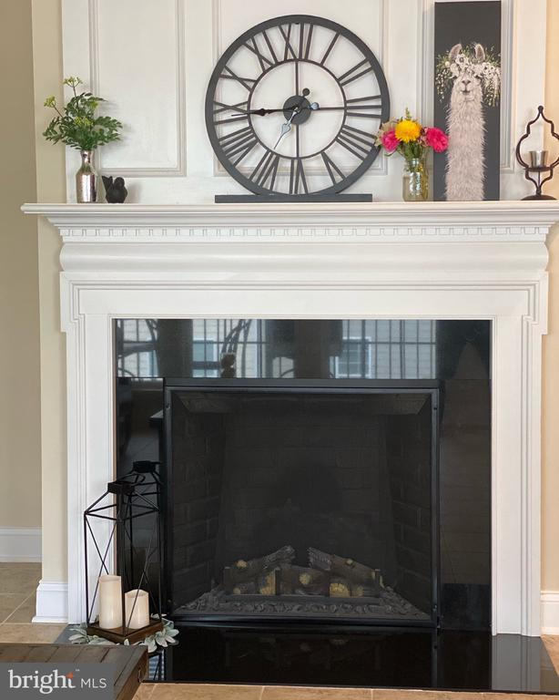 Fireplace in family room, next to kitchen - 20648 SIBBALD SQ, ASHBURN