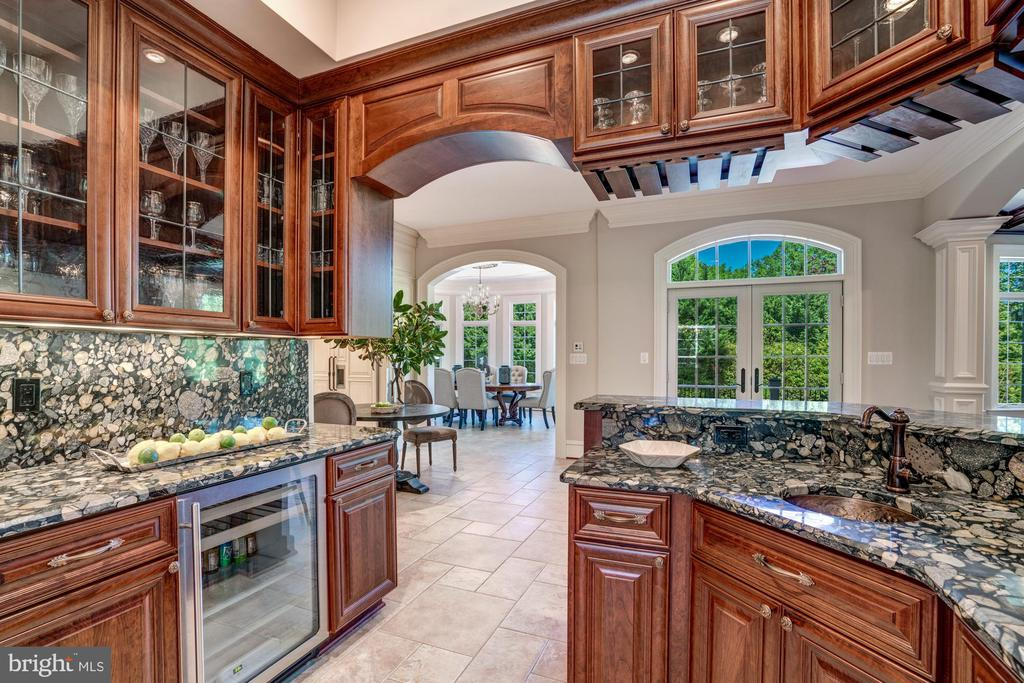 Wet Bar with Exotic Granite Countertops - 8334 ALVORD ST, MCLEAN