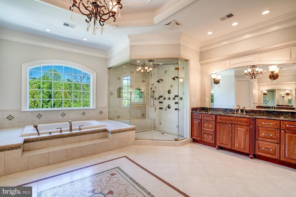 Owners Suite Bathroom. 2 Separate Full Vanities - 8334 ALVORD ST, MCLEAN