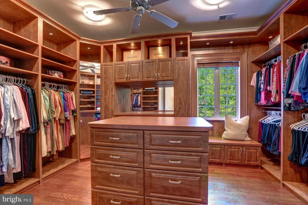 1 of 3 Walk-In Owners Suite Closets - 8334 ALVORD ST, MCLEAN