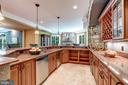 Large Wet Bar with Sink and Dishwasher - 8334 ALVORD ST, MCLEAN