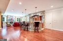 Lower Level Entertaining. Theater, Spa, Guest Bed - 8334 ALVORD ST, MCLEAN