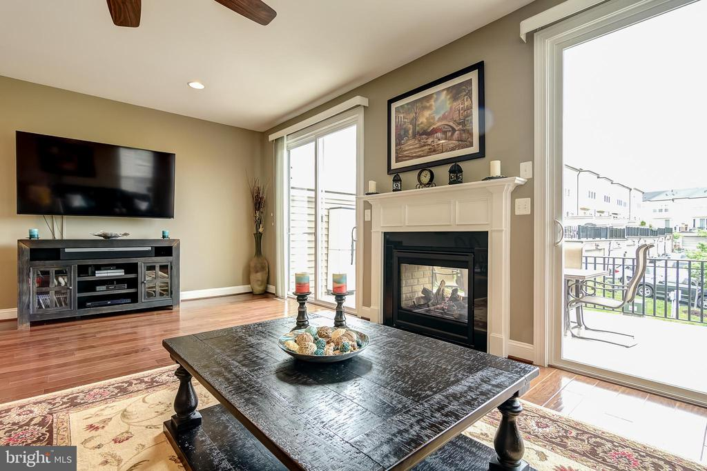 Bright living area with gas fireplace - 42238 PALLADIAN BLUE TER, BRAMBLETON