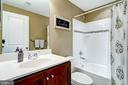 Full bath on lower level - 42238 PALLADIAN BLUE TER, BRAMBLETON