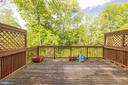 Large deck with a beautiful woods view - 21513 WELBY TER, BROADLANDS