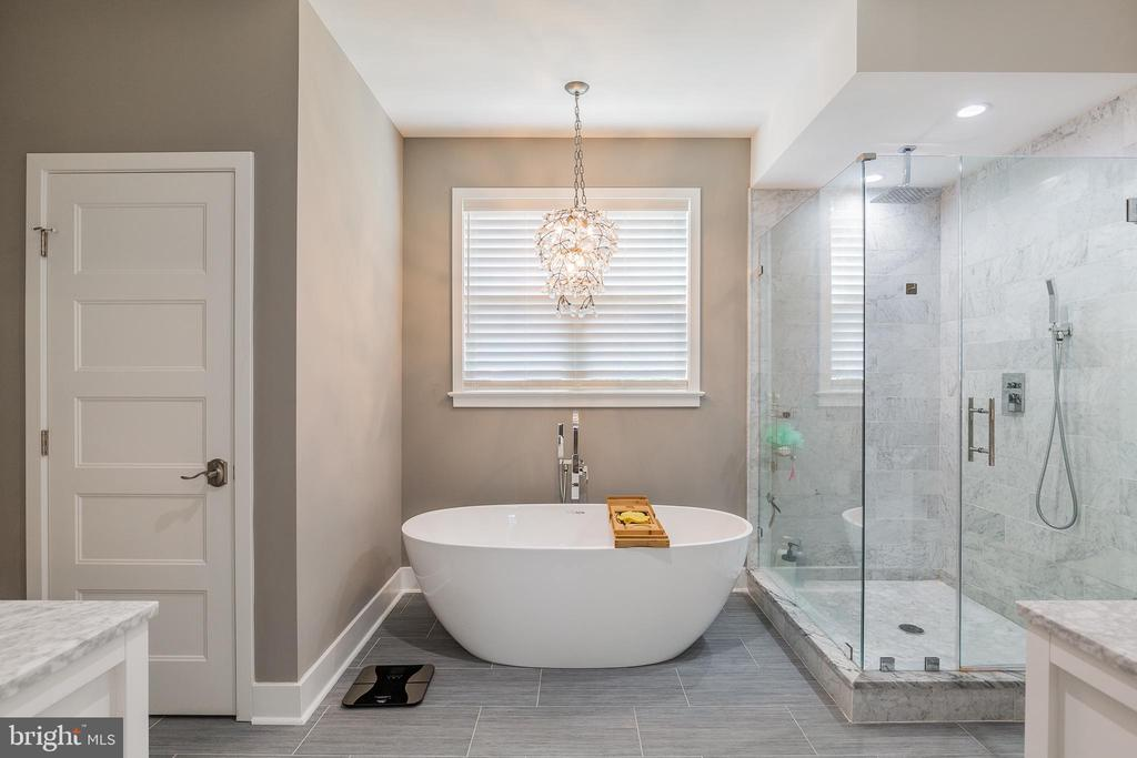 Spa type primary bath with tub and shower - 9064 ANDROMEDA DR, BURKE