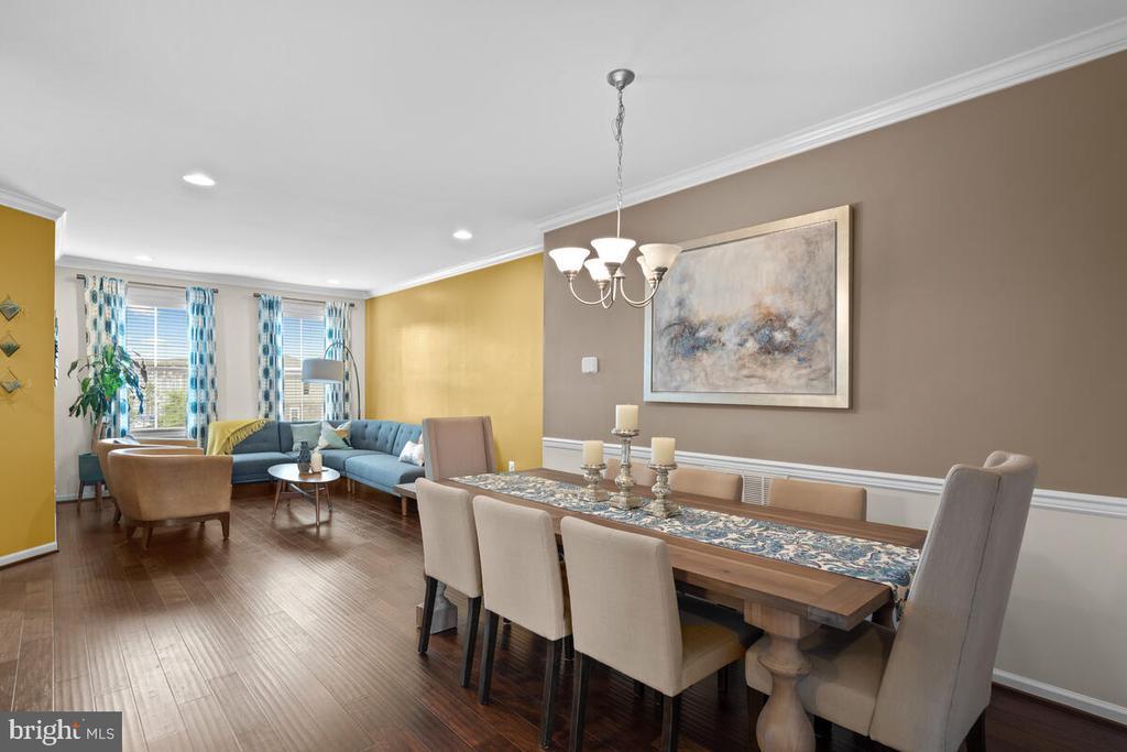 Dining Room open to Living Room - 23636 SAILFISH SQ, BRAMBLETON