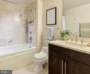 Marble tiled bathroom - 1111 19TH ST N #1909, ARLINGTON