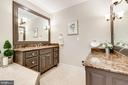 Primary bathroom w/ double vanities - 1904 MALLINSON WAY, ALEXANDRIA