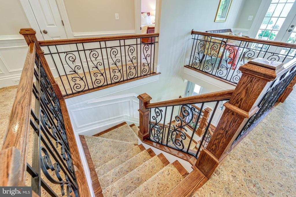 Ornate staircase from upper level looking down - 1904 MALLINSON WAY, ALEXANDRIA