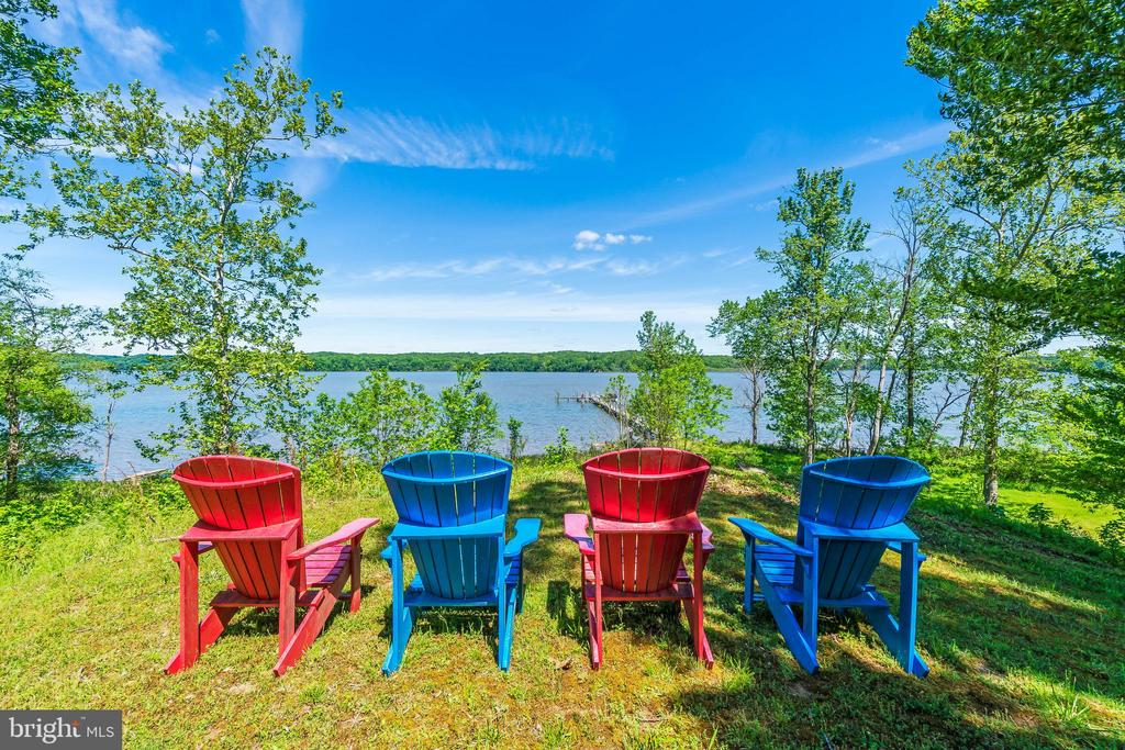 View from the back yard looking over the dock - 5898 COVE HARBOUR, KING GEORGE