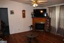 Gas Fireplace in Living Room - 13708 GABRIEL CT, SPOTSYLVANIA