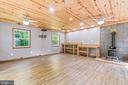 20 x 20 Workshop w/electricity, wood stove&lights - 2514 LITTLE RIVER RD, HAYMARKET