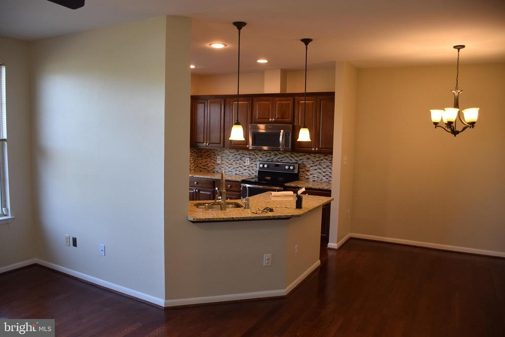 Kitchen Flows Nicely into Dining and Family Rooms - 44188 MOSSY BROOK SQ, ASHBURN