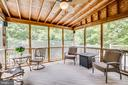 Screened in porch with ceiling fan - 29 WALLACE LN, STAFFORD