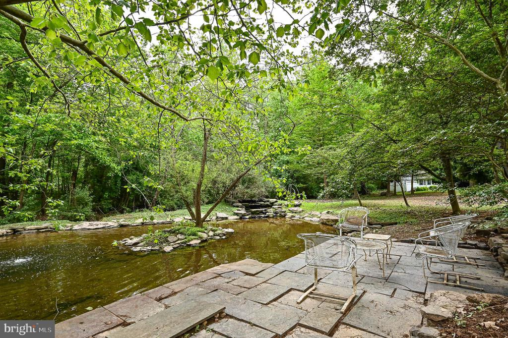 Patio by the pond - 11619 VALLEY RD, FAIRFAX