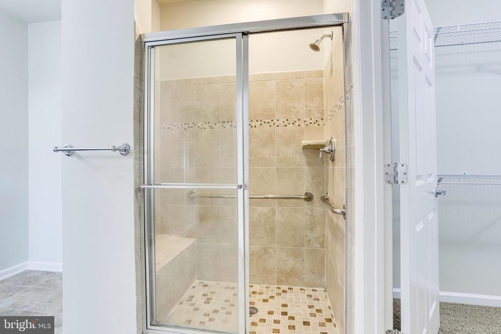 Tile Shower with Grab Bars Installed - 20580 HOPE SPRING TER #207, ASHBURN