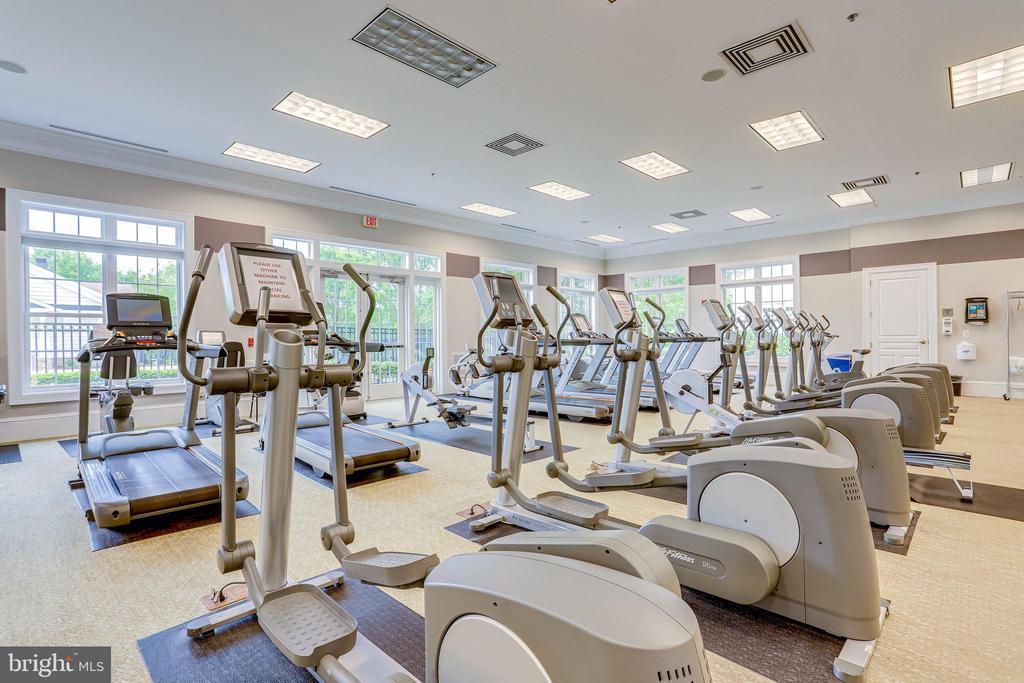 Large Fitness Center overlooks Pool - 20580 HOPE SPRING TER #207, ASHBURN