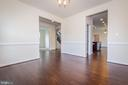 View into butler's pantry and office. - 502 APRICOT ST, STAFFORD