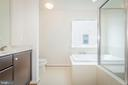 Owner's ensuite bathroom with double sinks - 502 APRICOT ST, STAFFORD