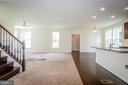 From foyer into large family room and kitchen. - 502 APRICOT ST, STAFFORD