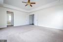 View into owners' bath and TWO walk-in closets. - 502 APRICOT ST, STAFFORD