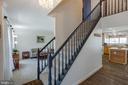 Entrance/Foyer Refinished Hardwood Floors - 20443 MIDDLEBURY ST, ASHBURN