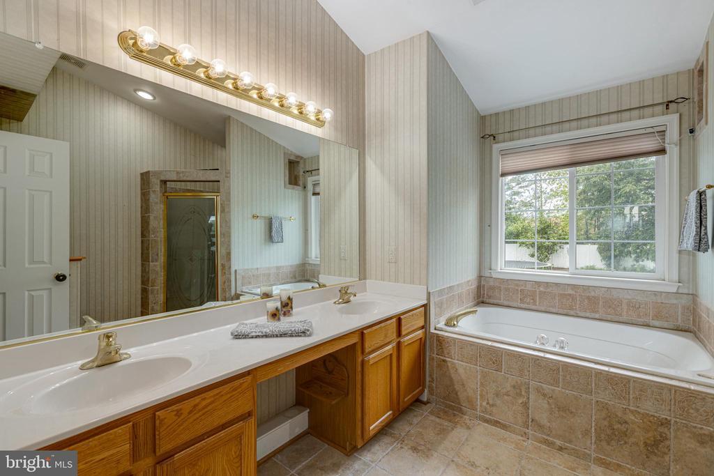 Owners Bathroom with Soaking Tub - 20443 MIDDLEBURY ST, ASHBURN
