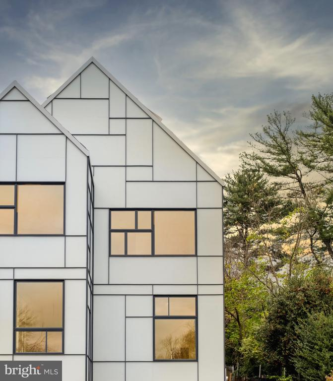 Front Elevation, Mondrian inspired facade - 1120 GUILFORD CT, MCLEAN