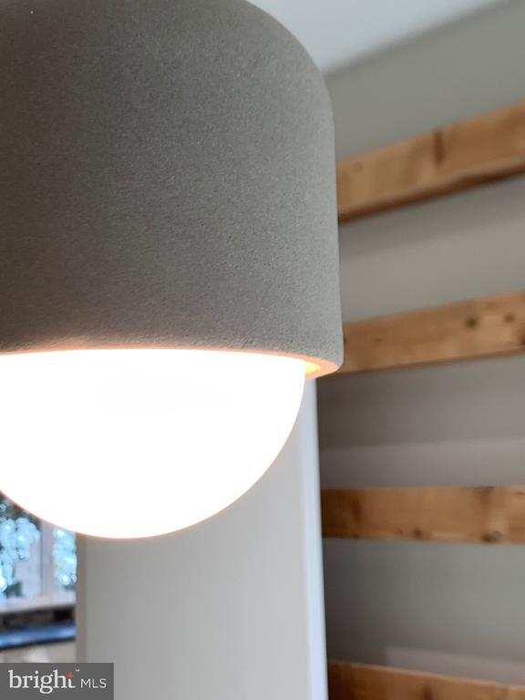 Concrete shell LED pendent light - 1120 GUILFORD CT, MCLEAN