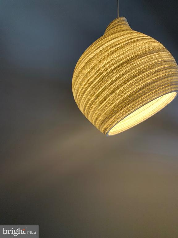 Hive looking pendant light - 1120 GUILFORD CT, MCLEAN