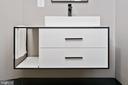 Floating modern powder room vanity� - 1120 GUILFORD CT, MCLEAN