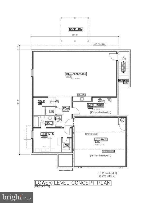 basement level level concept plan - 406 PLUM ST SW, VIENNA