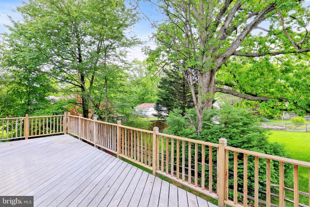 Relax and enjoy the views from the deck - 508 DRANESVILLE RD, HERNDON