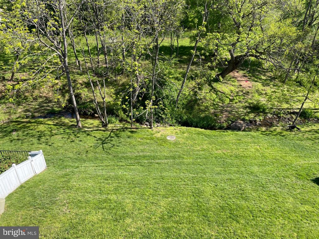 Back yard and view - 126 N JAY ST, MIDDLEBURG