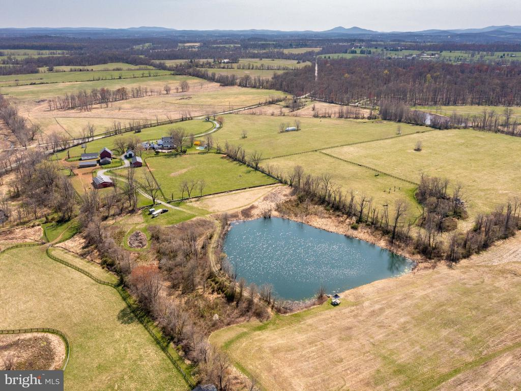 View of pond and fields - 20775 AIRMONT RD, BLUEMONT