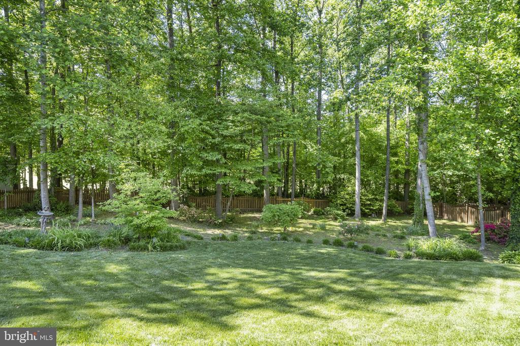 Private backyard setting - 13 LUDWELL LN, STAFFORD