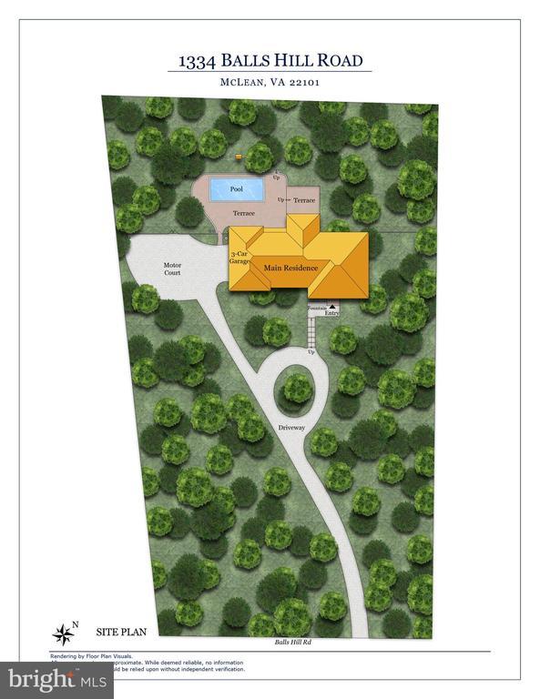 1334 Balls Hill Road site plan - 1334 BALLS HILL RD, MCLEAN