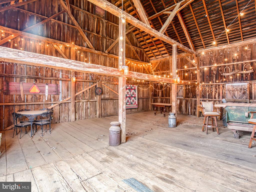 Interior of bank barn - 20775 AIRMONT RD, BLUEMONT