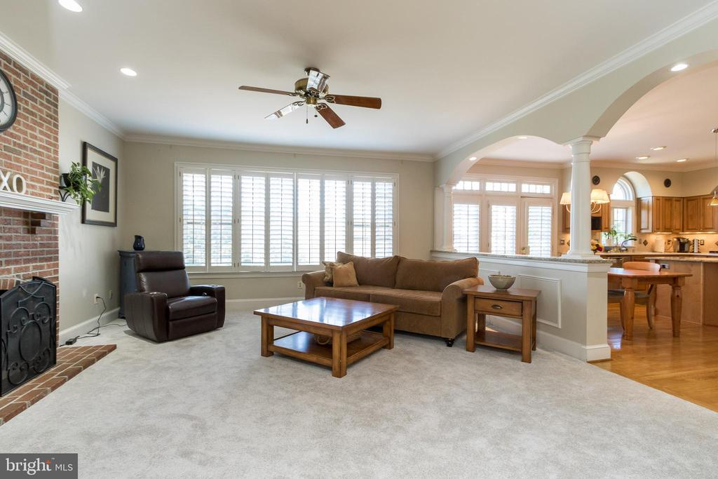 Family Room  w/ gas fireplace - 13645 MELSTONE DR, CLIFTON
