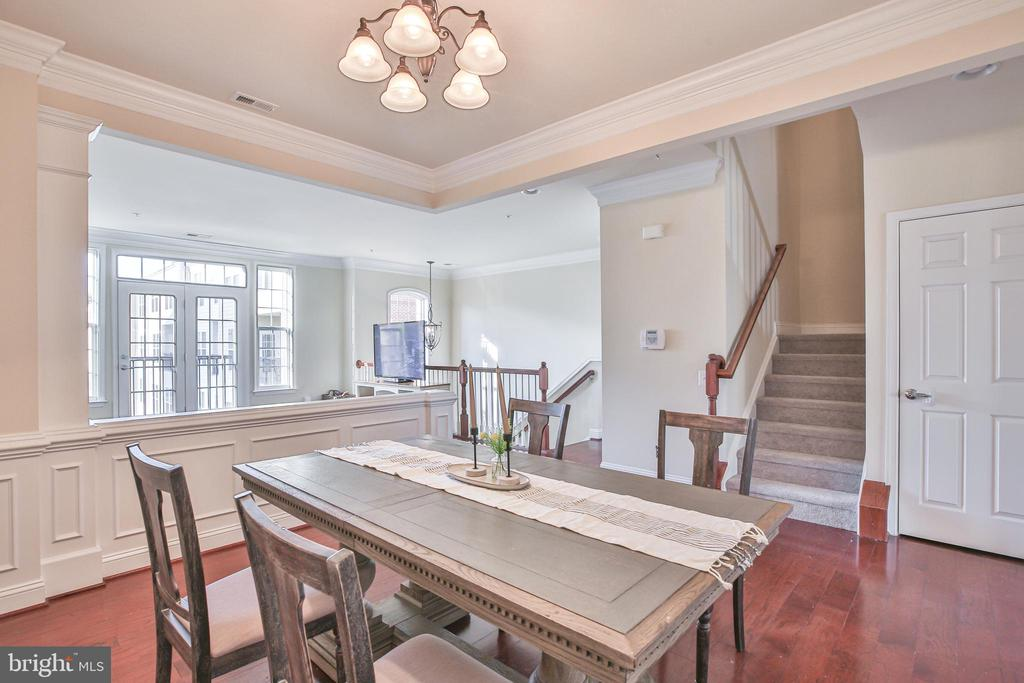 Dining room with views to the greatroom - 42810 LAUDER TER, ASHBURN