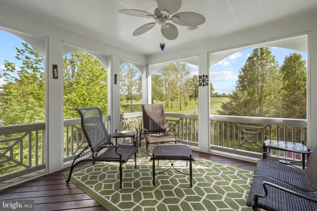 Screened-In Porch with Golf Course Views - 43327 RIVERPOINT DR, LEESBURG