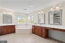 Luxe Owner Ensuite Bath with Dual Vanities - 43327 RIVERPOINT DR, LEESBURG