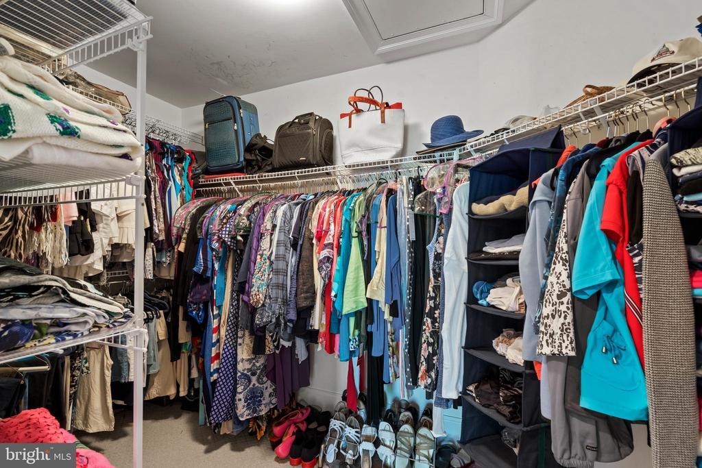 1st Walk-in Closet in Owner Bedroom - 43327 RIVERPOINT DR, LEESBURG