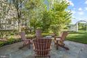 Backyard Patio Surrounded by Mature Landscaping - 43327 RIVERPOINT DR, LEESBURG