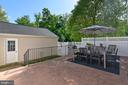 Oversized patio. - 43533 MINK MEADOWS ST, CHANTILLY