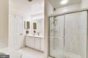 Owner's Bath with walk in shower. - 43533 MINK MEADOWS ST, CHANTILLY