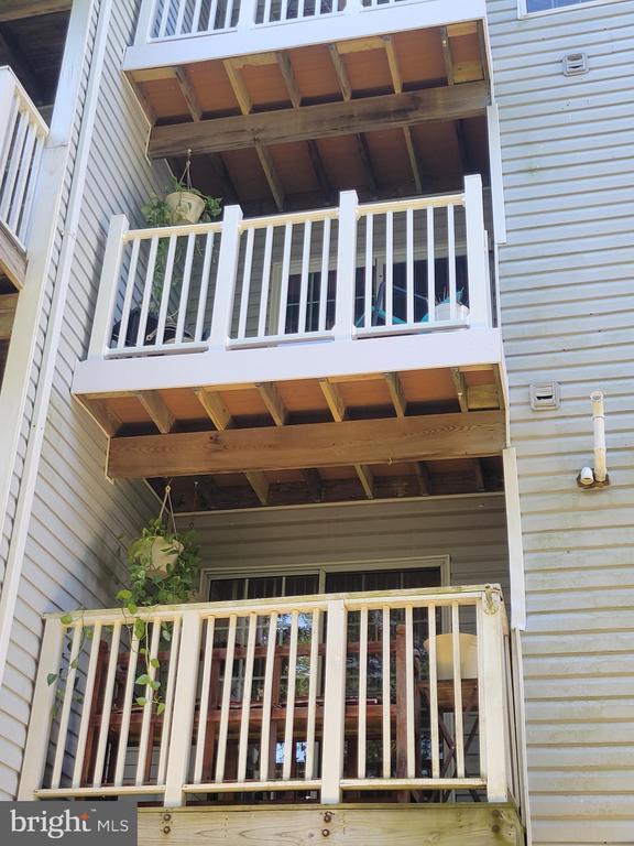 Exterior Rear-Two semi private balconies - 11755 TOLSON PL #11755, WOODBRIDGE