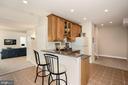 Lower level wet bar / kitchen - 14915 LIMESTONE SCHOOL RD, LEESBURG